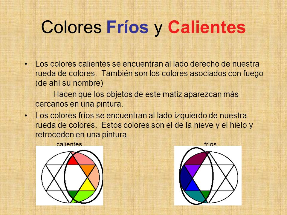 Colores Fríos y Calientes