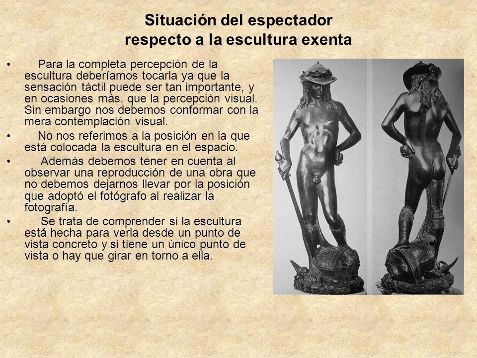 Situación del espectador respecto a la escultura exenta