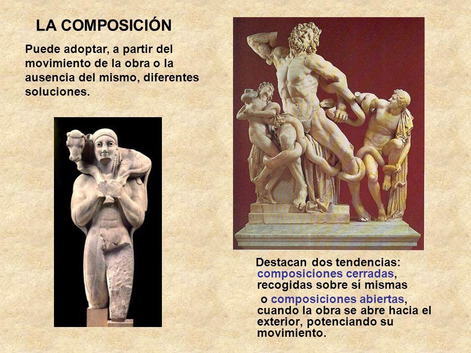LA COMPOSICIÓN Puede adoptar, a partir del movimiento de la obra o la