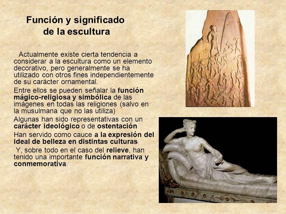 Función y significado de la escultura