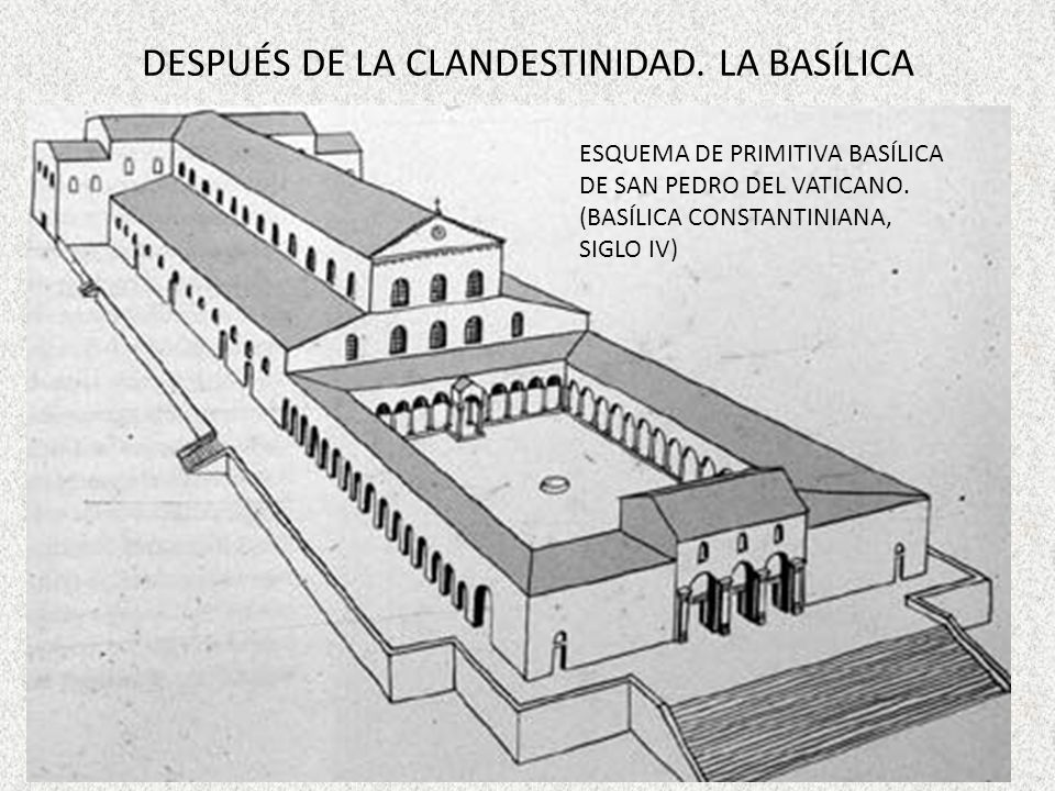 DESPUÉS DE LA CLANDESTINIDAD. LA BASÍLICA