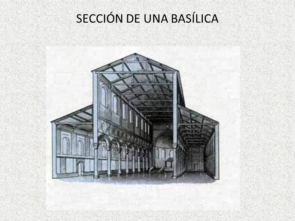 SECCIÓN DE UNA BASÍLICA