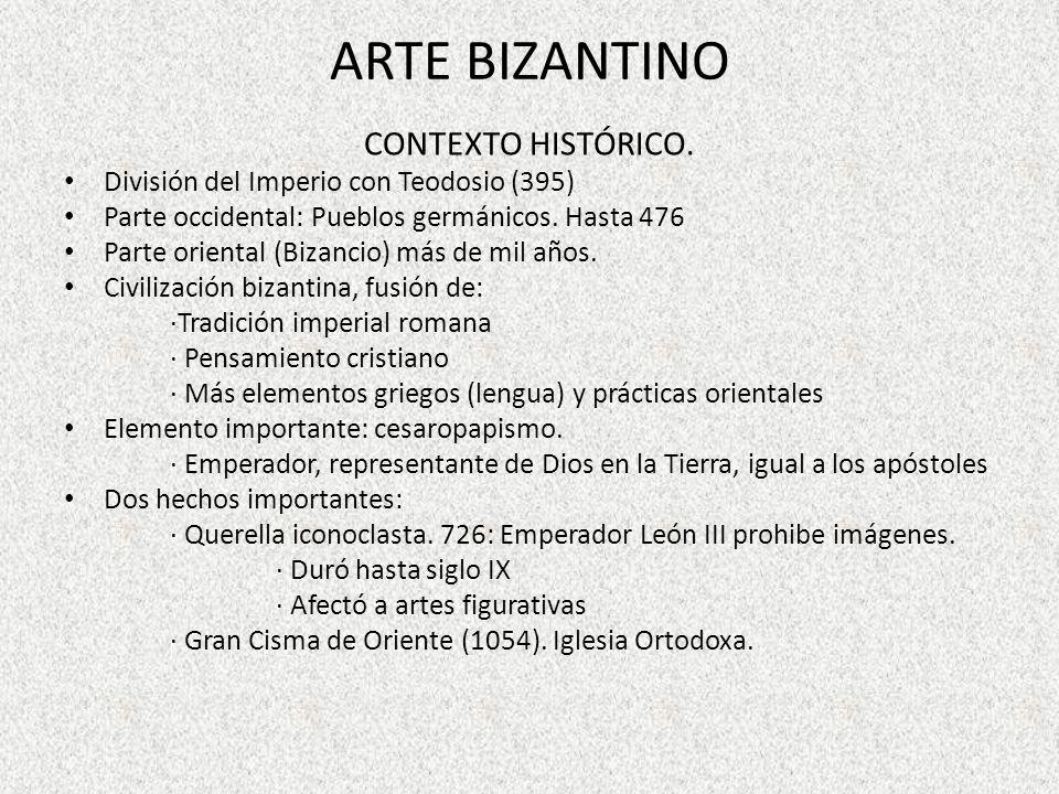 ARTE BIZANTINO CONTEXTO HISTÓRICO.