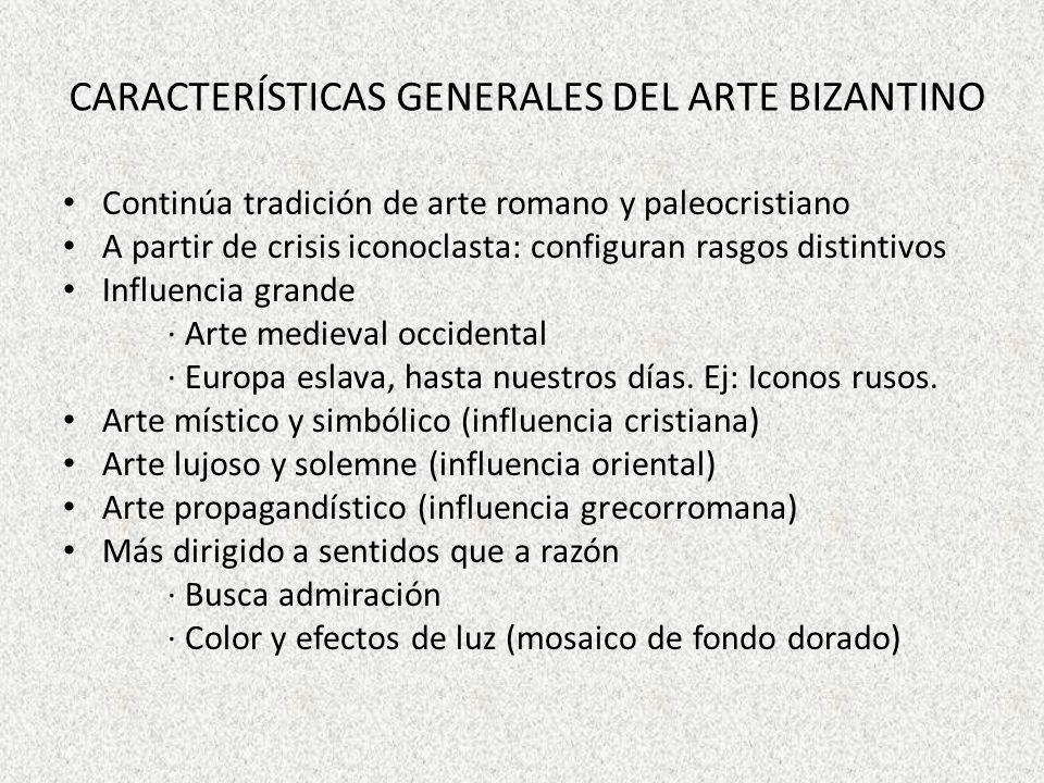 Características generales del arte bizantino