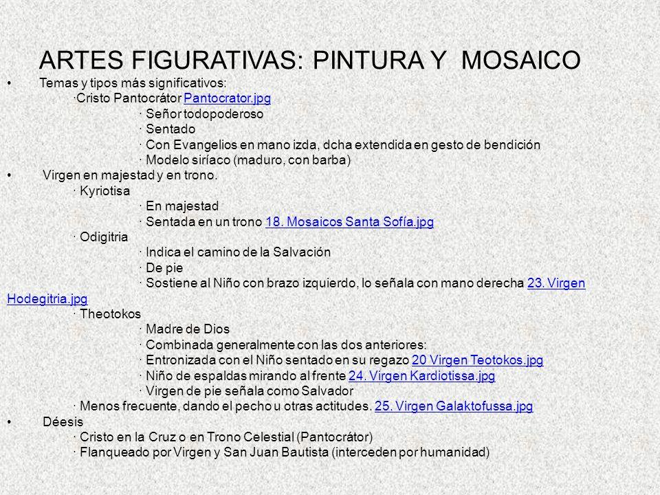 ARTES FIGURATIVAS: PINTURA Y MOSAICO