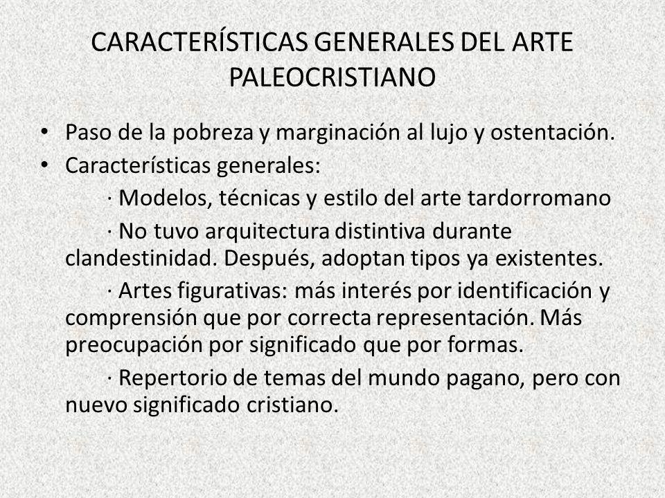 Características generales del arte paleocristiano
