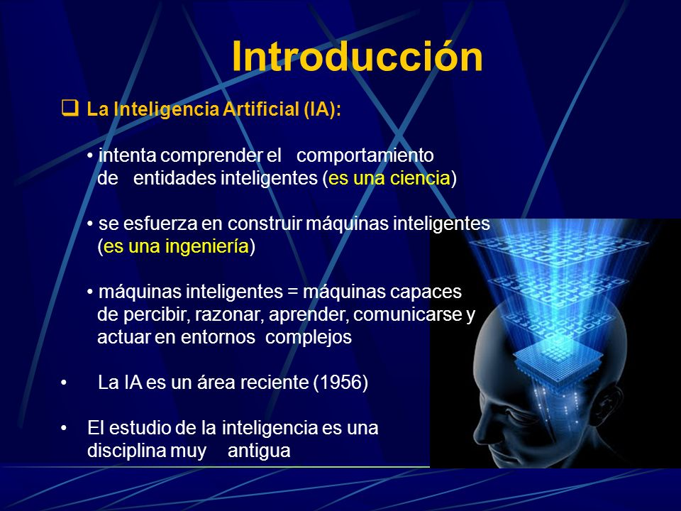 Introducción La Inteligencia Artificial (IA):
