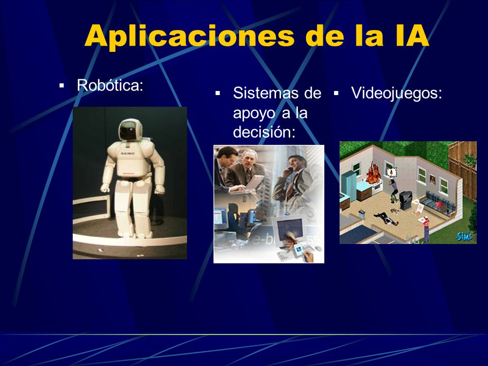 Aplicaciones de la IA Robótica: Sistemas de apoyo a la decisión: