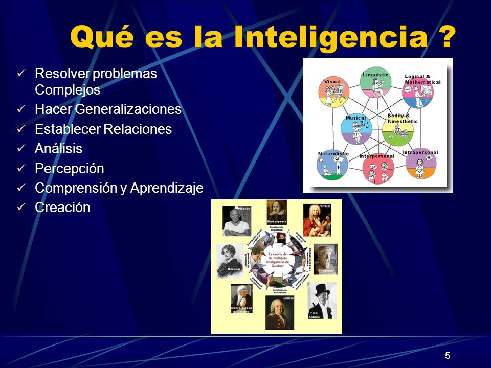 Qué es la Inteligencia Resolver problemas Complejos