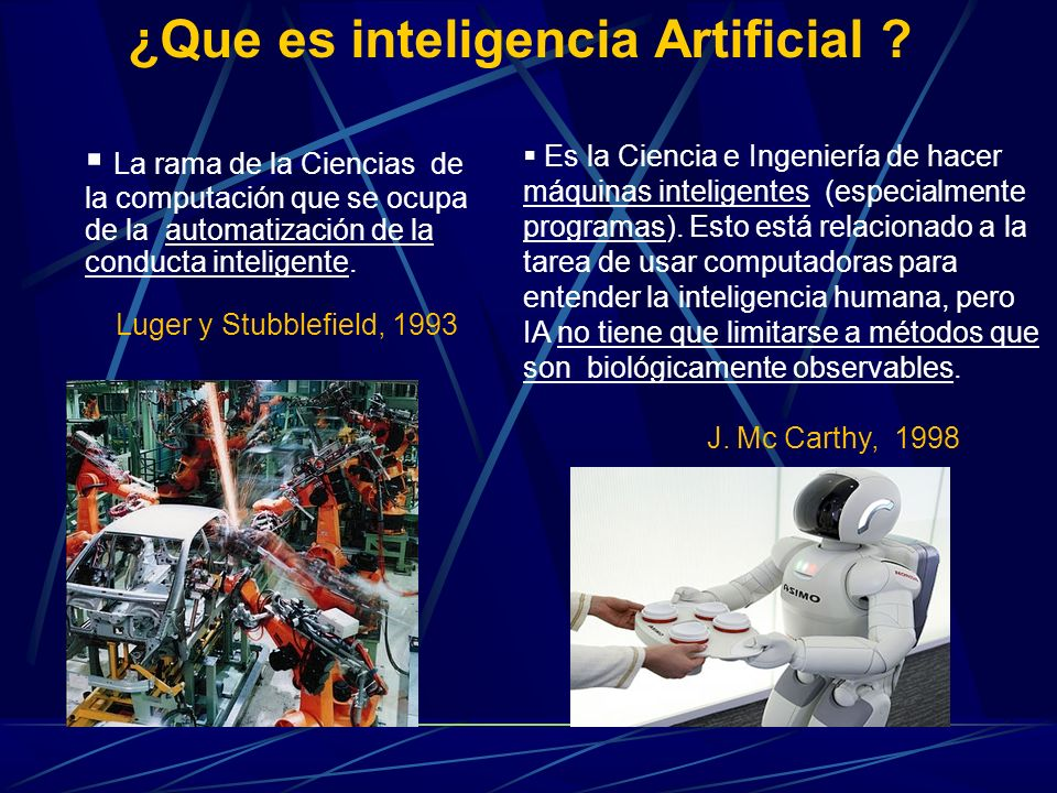 ¿Que es inteligencia Artificial