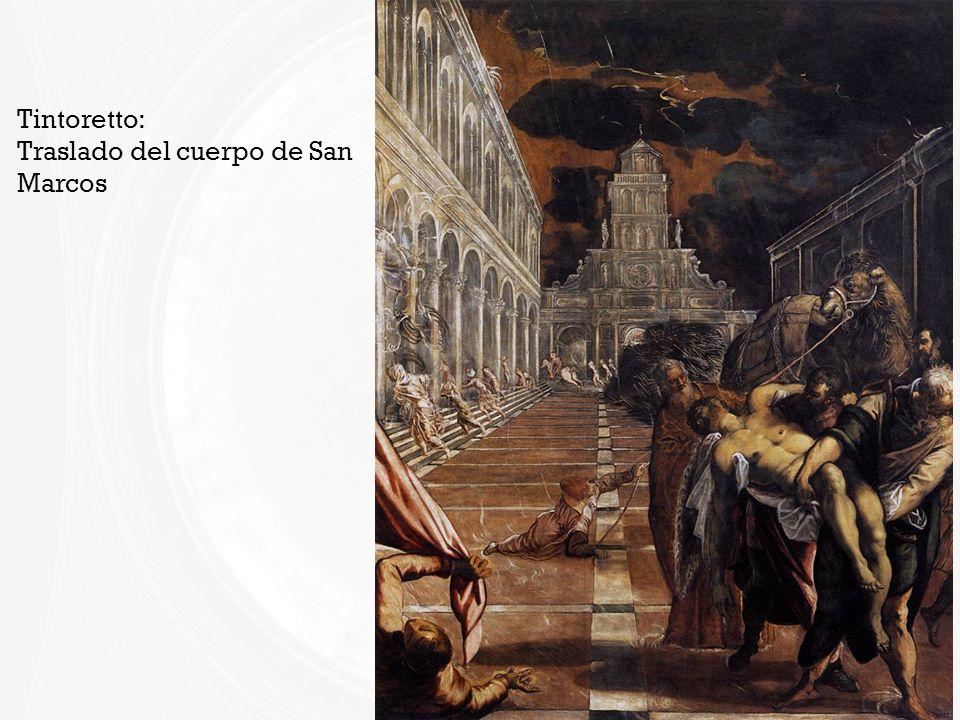 Tintoretto: Traslado del cuerpo de San Marcos