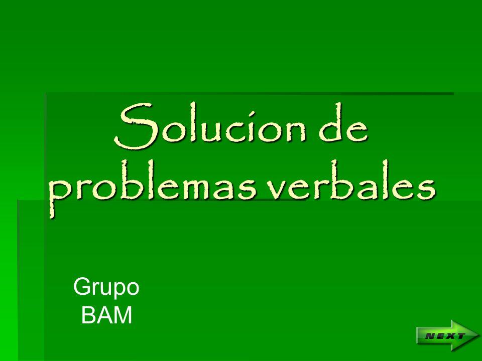Solucion de problemas verbales