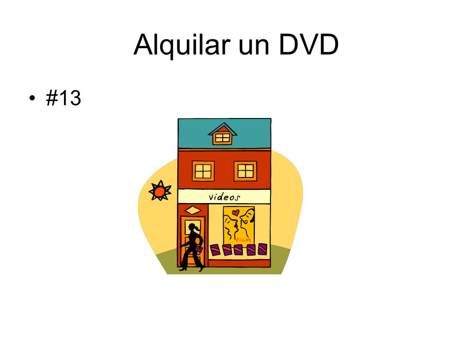 Alquilar un DVD #13