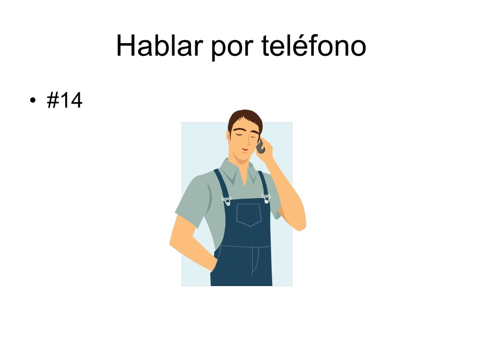 Hablar por teléfono #14