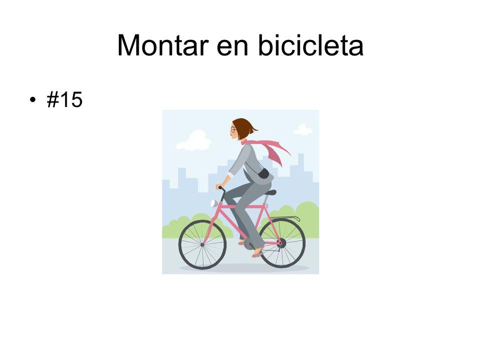 Montar en bicicleta #15