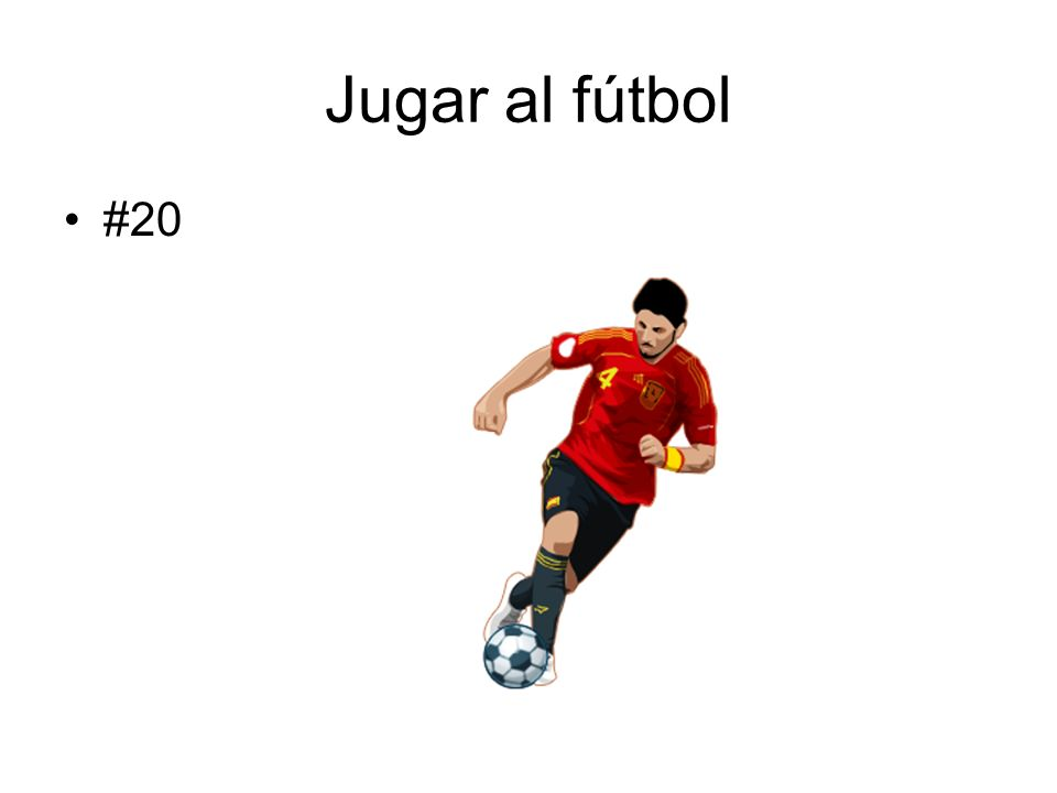 Jugar al fútbol #20