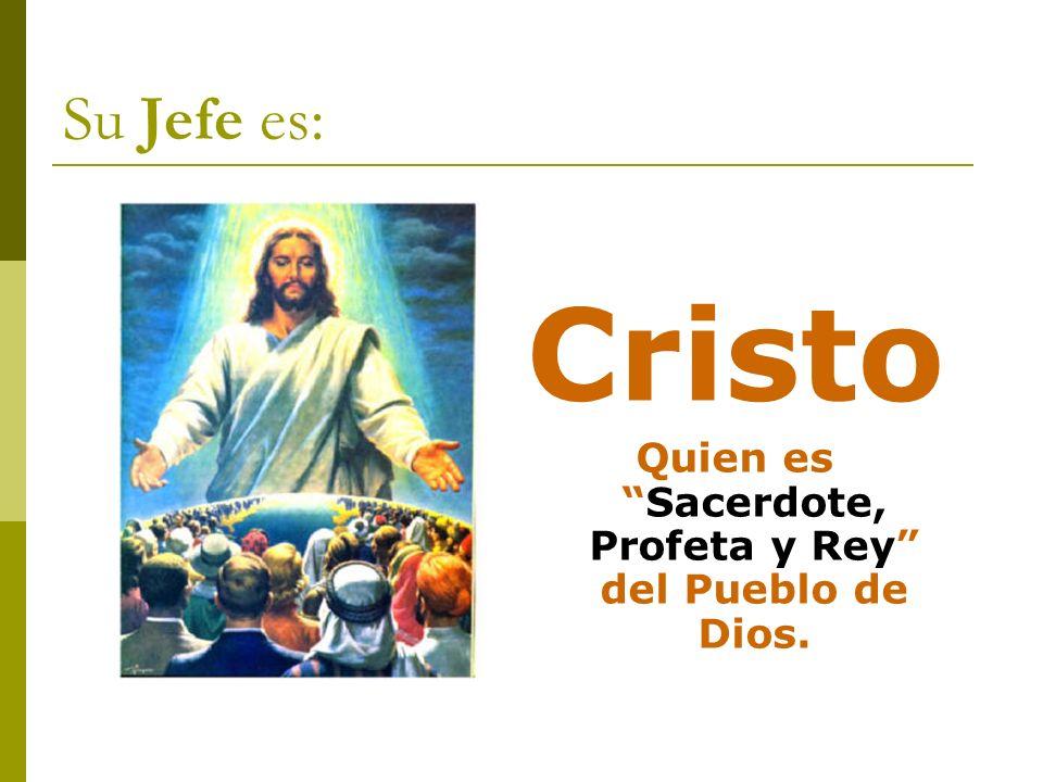 Quien es Sacerdote, Profeta y Rey del Pueblo de Dios.
