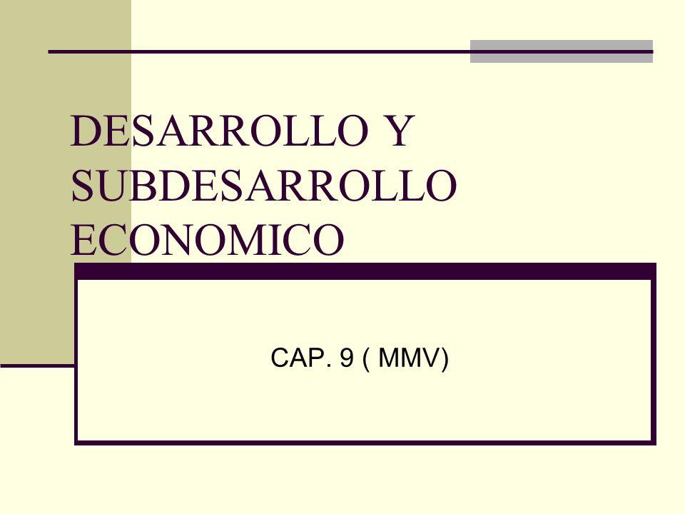 DESARROLLO Y SUBDESARROLLO ECONOMICO