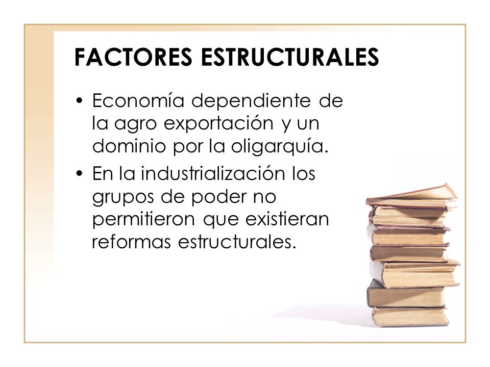 FACTORES ESTRUCTURALES