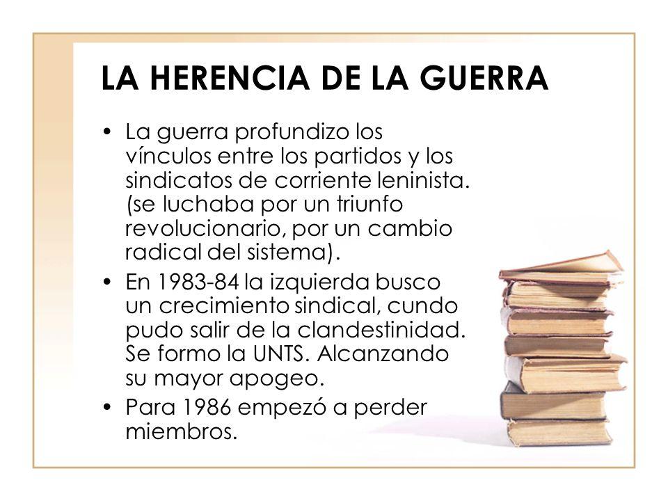 LA HERENCIA DE LA GUERRA