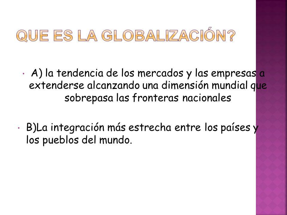 Que es la globalización
