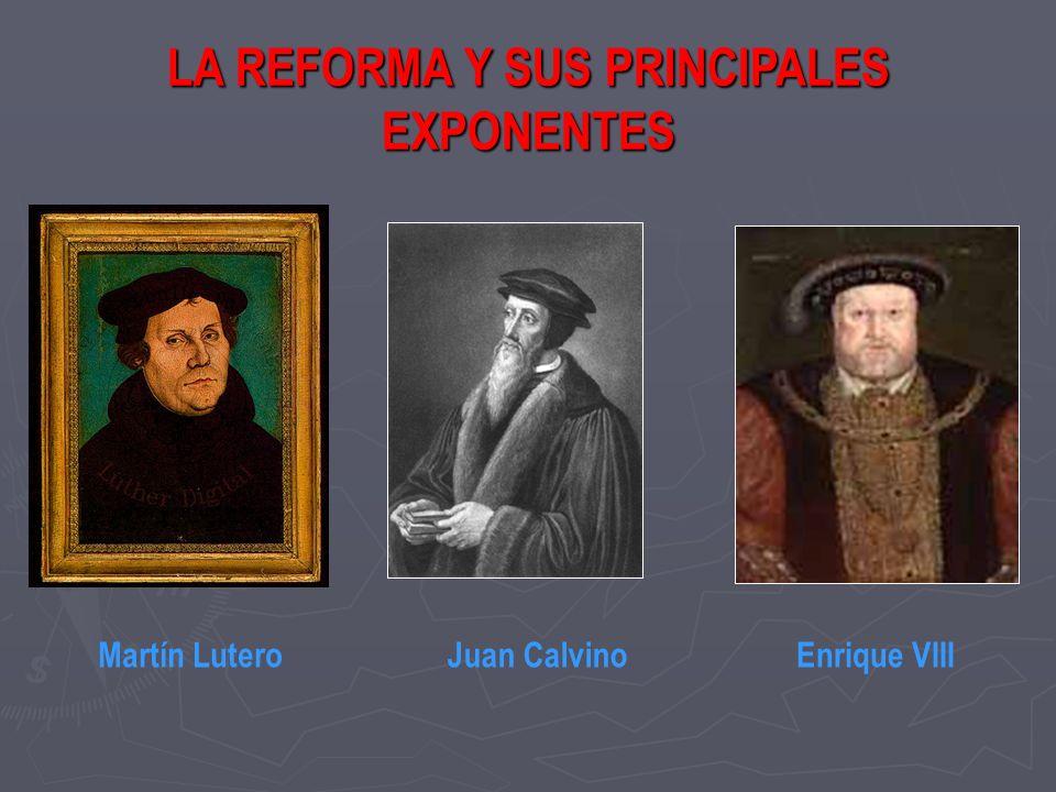 LA REFORMA Y SUS PRINCIPALES EXPONENTES