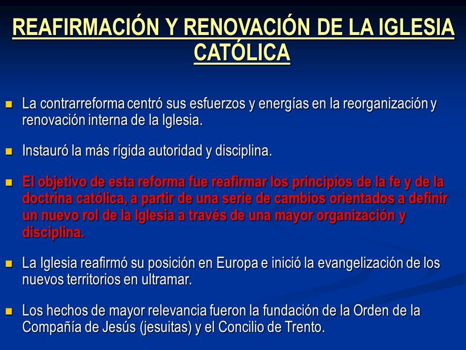 REAFIRMACIÓN Y RENOVACIÓN DE LA IGLESIA CATÓLICA