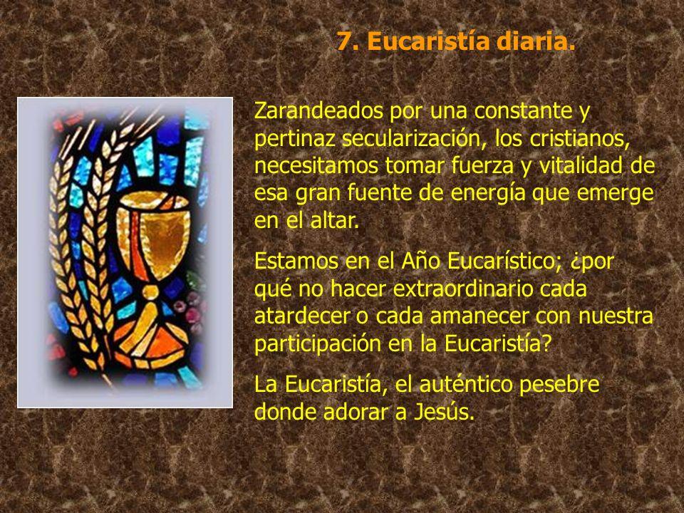 7. Eucaristía diaria.