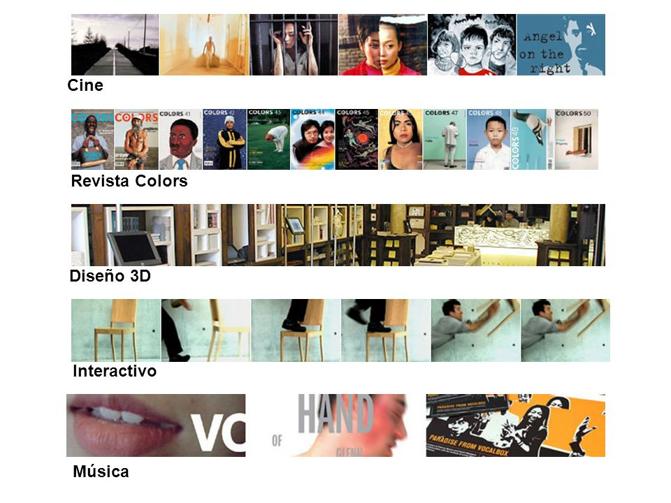 Cine Revista Colors Diseño 3D Interactivo Música