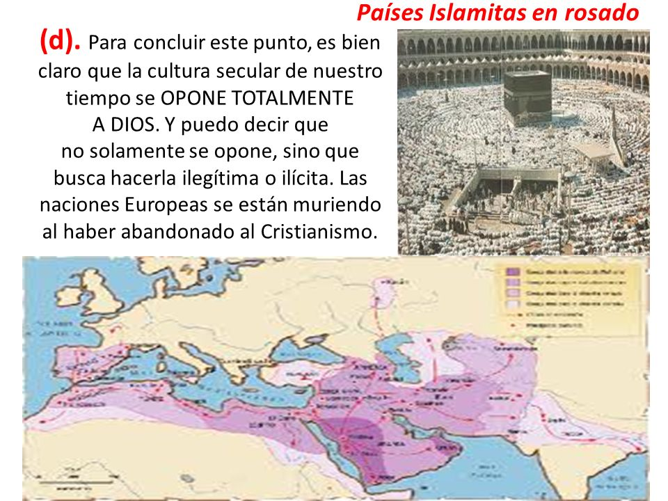 Países Islamitas en rosado