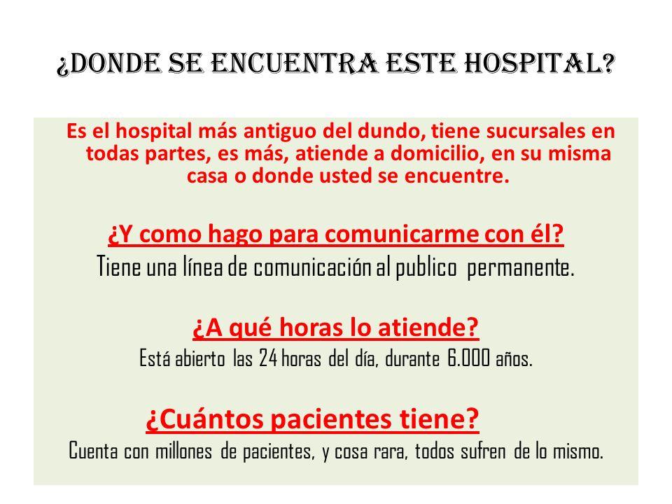 ¿Donde se encuentra este hospital