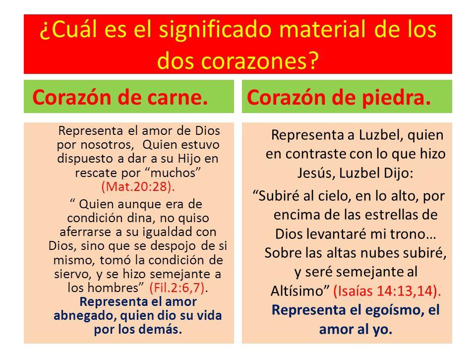 ¿Cuál es el significado material de los dos corazones