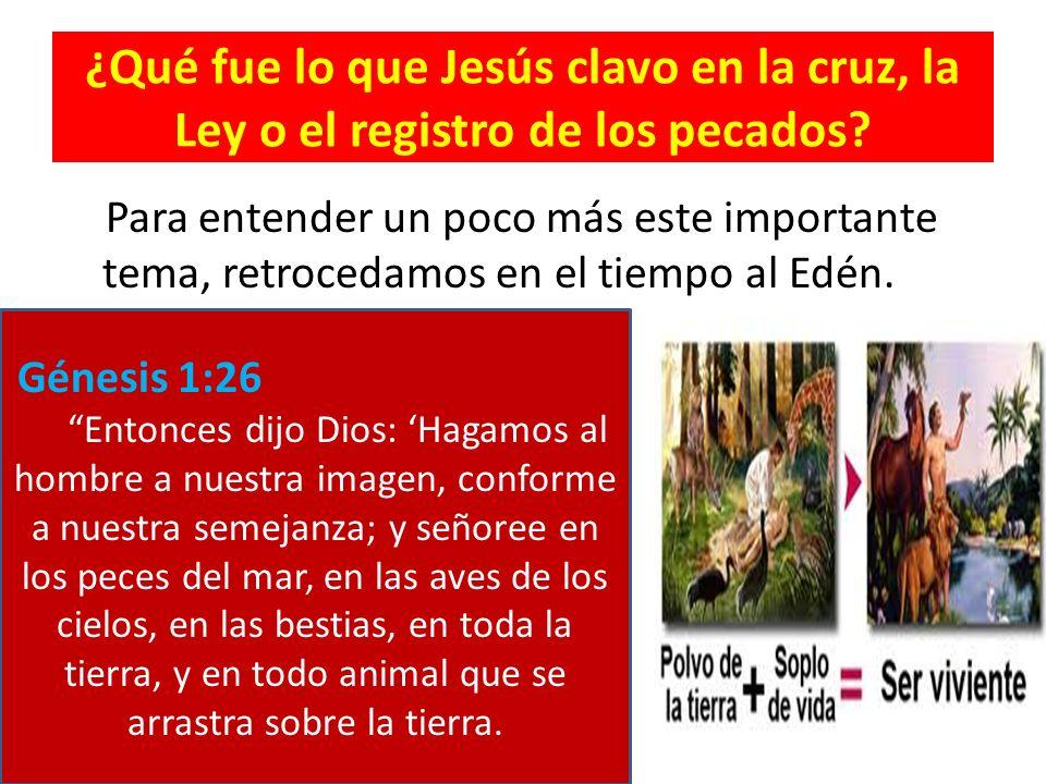 ¿Qué fue lo que Jesús clavo en la cruz, la Ley o el registro de los pecados