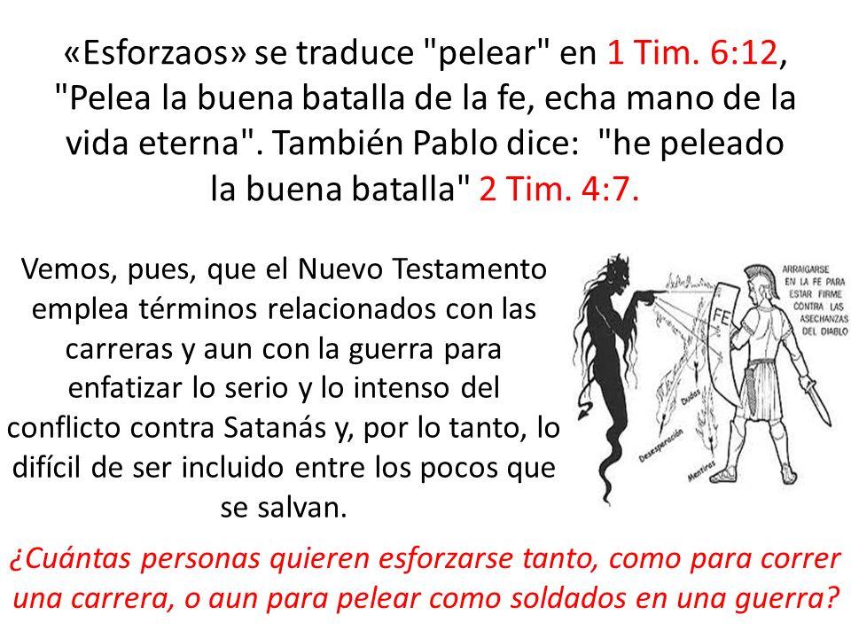 «Esforzaos» se traduce pelear en 1 Tim
