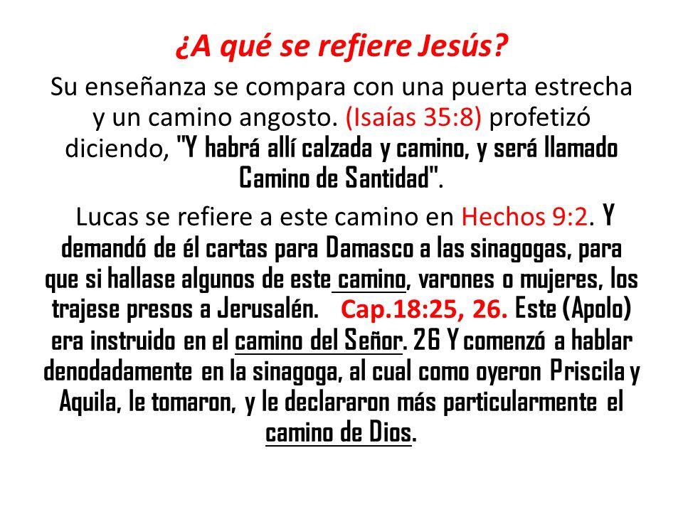 ¿A qué se refiere Jesús