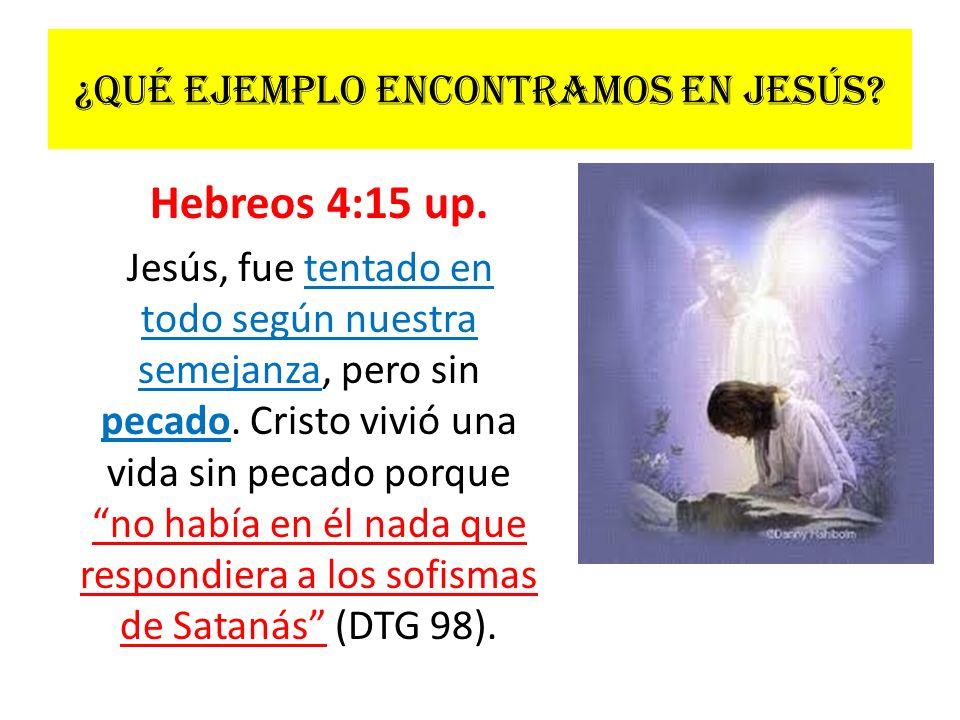 ¿Qué ejemplo encontramos en Jesús