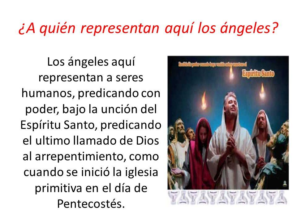 ¿A quién representan aquí los ángeles
