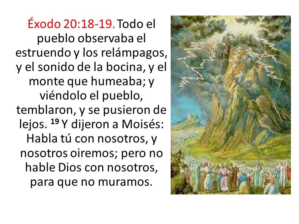 Éxodo 20:18-19.