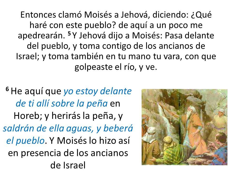 Entonces clamó Moisés a Jehová, diciendo: ¿Qué haré con este pueblo