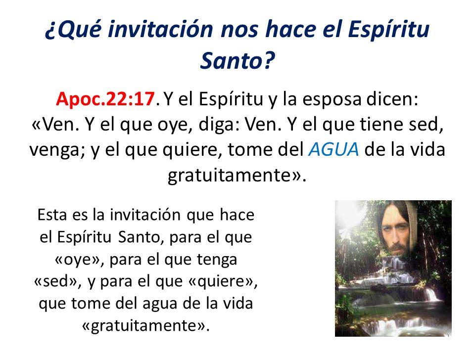 ¿Qué invitación nos hace el Espíritu Santo