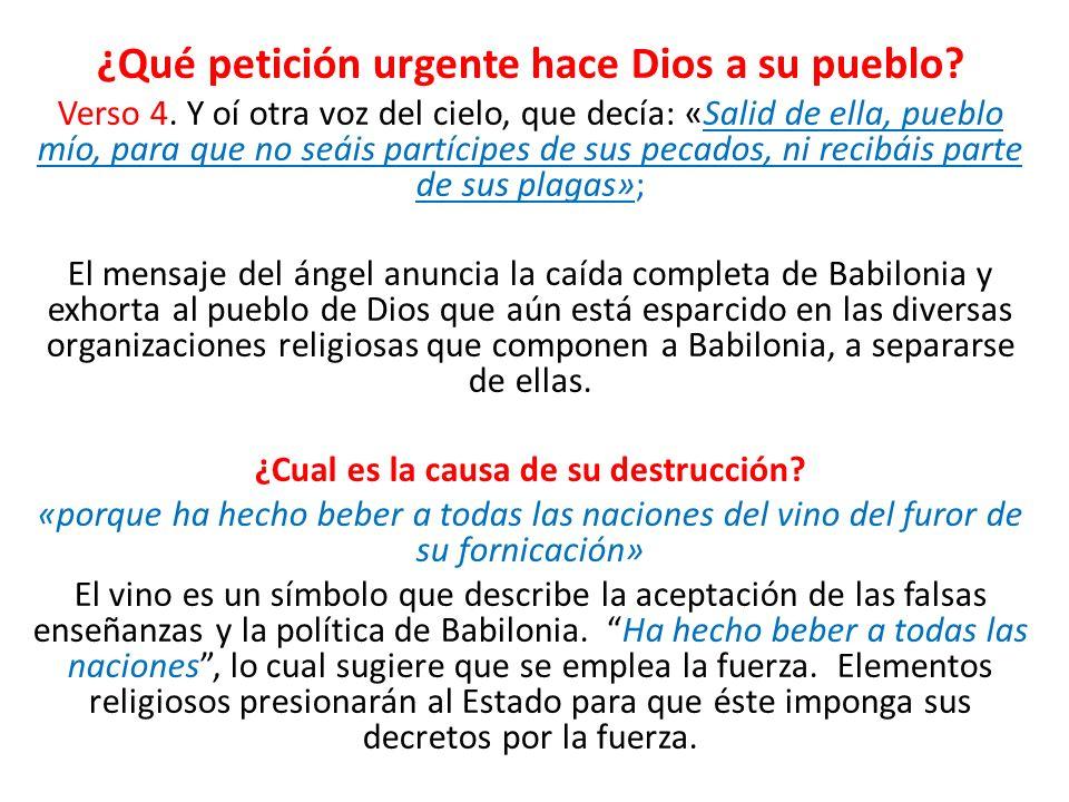 ¿Qué petición urgente hace Dios a su pueblo