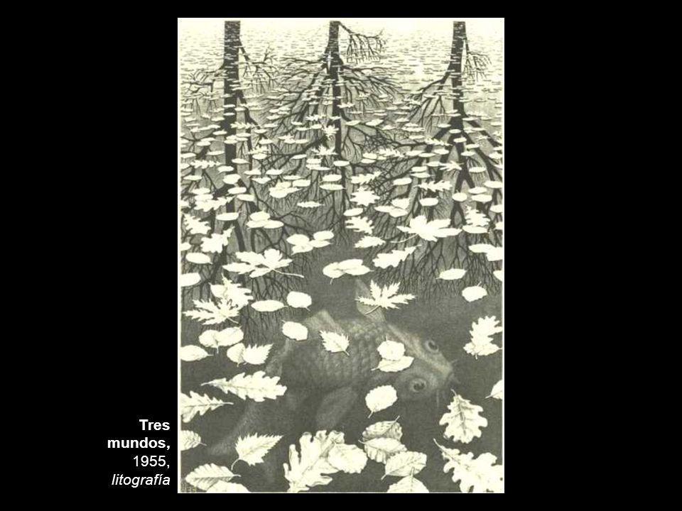 Tres mundos, 1955, litografía