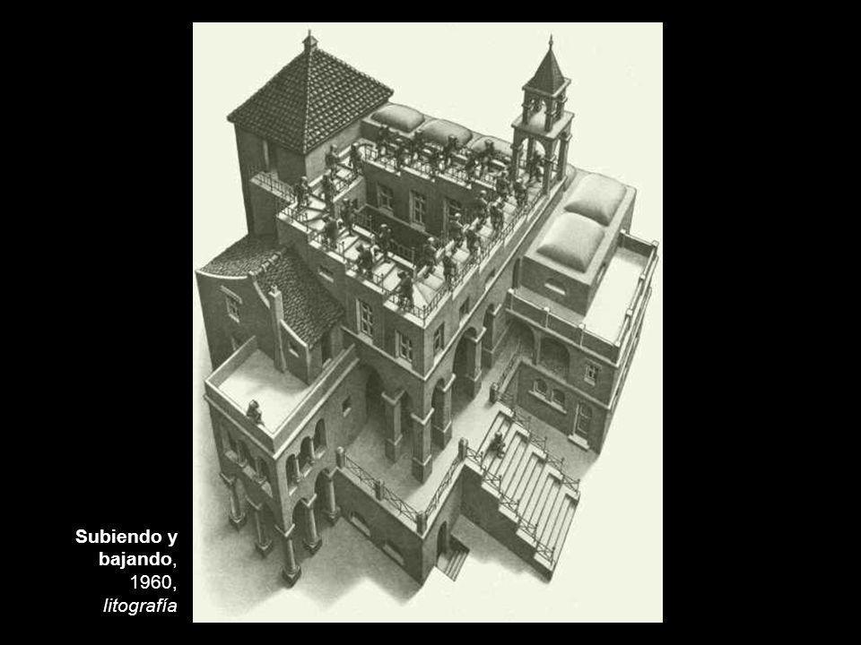 Subiendo y bajando, 1960, litografía