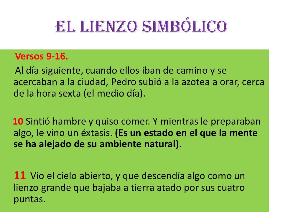 El lienzo simbólico Versos 9-16.
