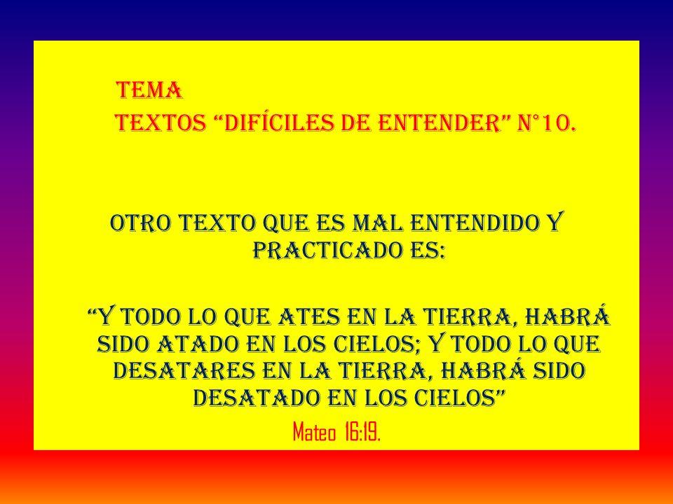 Tema Textos difíciles de entender N°10