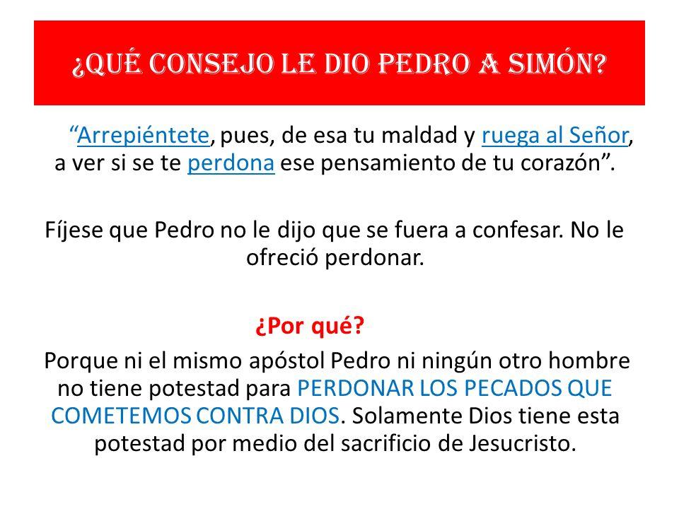 ¿Qué consejo le dio Pedro a Simón
