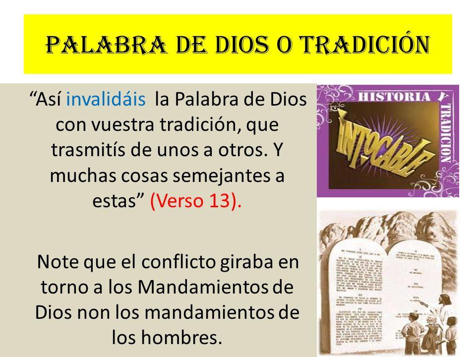 Palabra de Dios o tradición