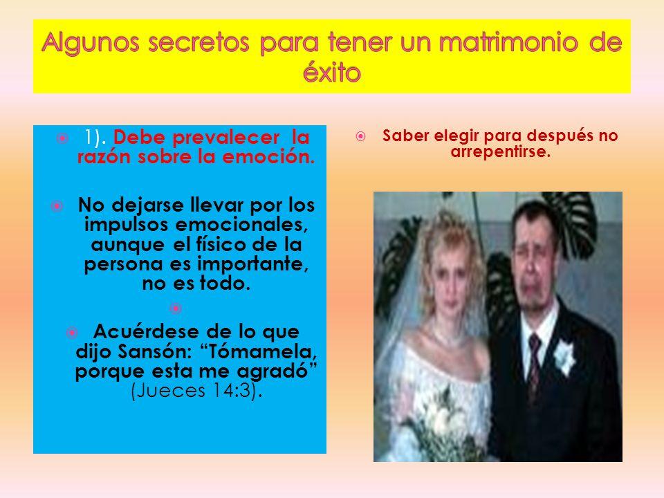 Algunos secretos para tener un matrimonio de éxito
