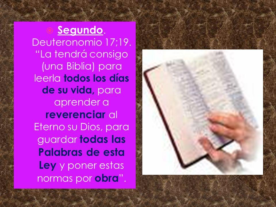 Segundo. Deuteronomio 17;19