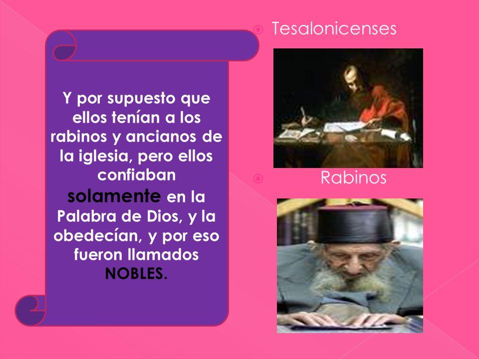 Tesalonicenses Rabinos